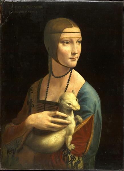 Леонардо да Винчи, «Дама с горностаем. Цецилия (Чечилия) Галлерани», 1480-е гг.