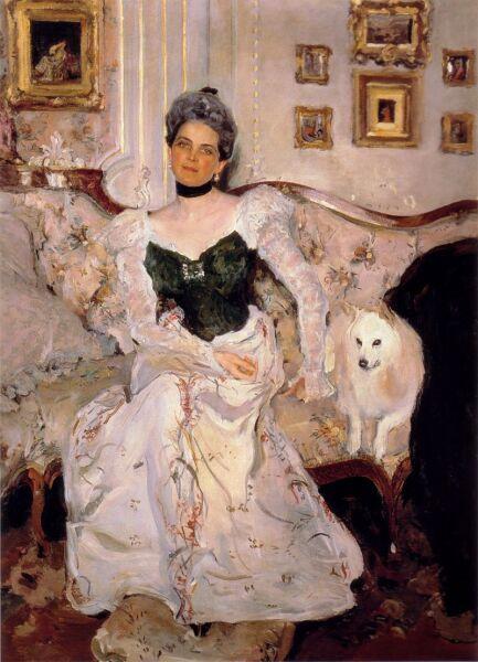 В. А. Серов, «Княгиня Юсупова в своём дворце на Мойке», 1900 г.