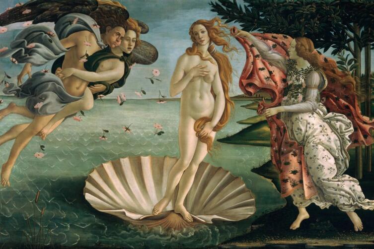Сандро Боттичелли, «Рождение Венеры», 1486 г.