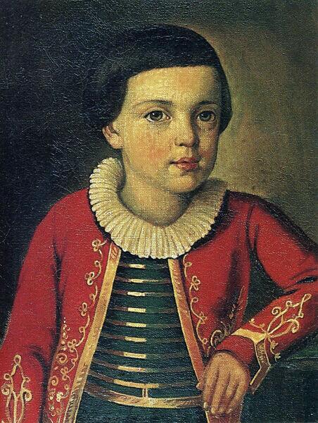 М. Ю. Лермонтов в возрасте 6—9 лет