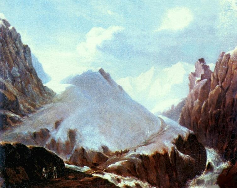 М. Ю. Лермонтов, «Вид горы Крестовой», 1838 г.