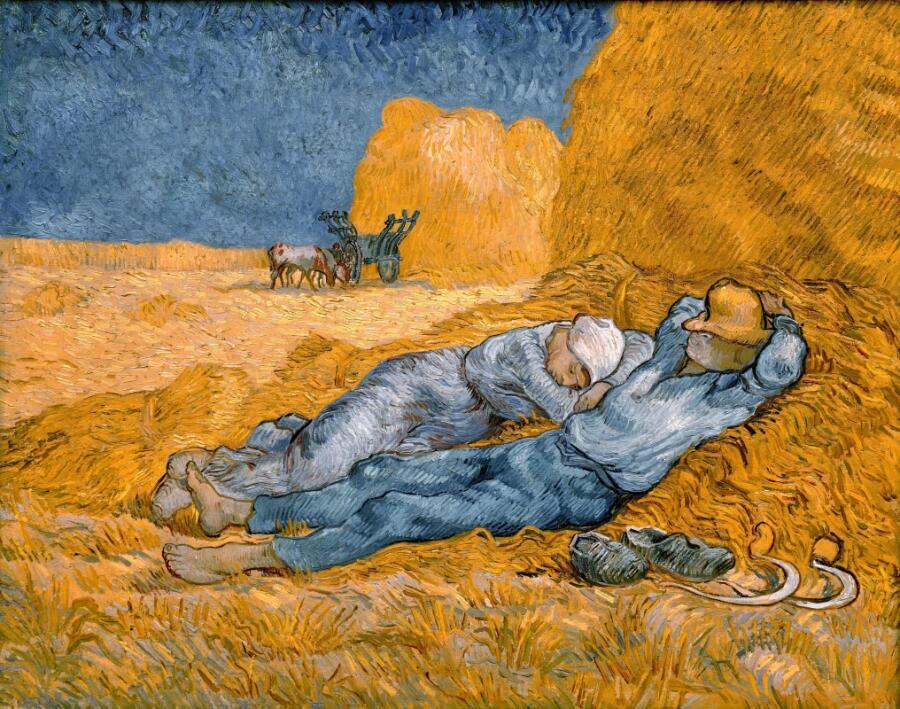 Винсент Ван Гог, «Полуденный отдых», 1890 г.