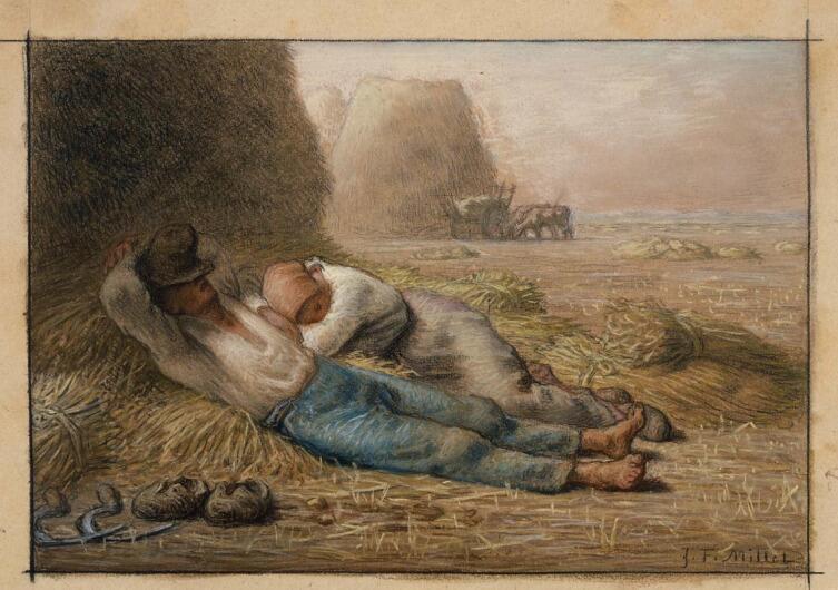Жан-Франсуа Милле, «Полуденный отдых (Сиеста)», 1866 г.