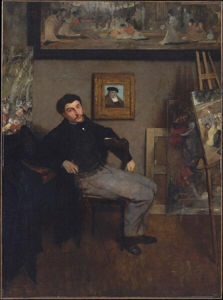 Портрет Джеймса Тиссо работы Эдгара Дега, 1867-1868 гг. Метрополитен-музей, Нью-Йорк