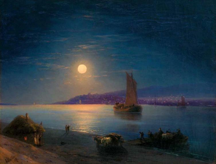 И. К. Айвазовский, «Лунная ночь на Днепре», 1887 г.