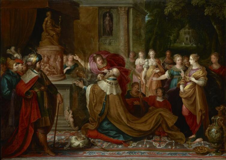 Франс Франкен Младший, «Идолопоклонство царя Соломона», 1622 г.