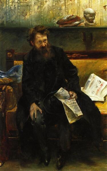 Ловис Коринт, «Портрет поэта Петра Хилле», 1902 г.