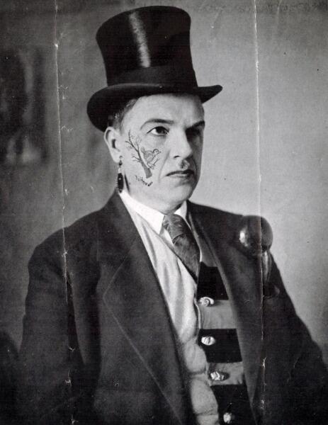 Футурист Давид Бурлюк. 1929 г. (Фото из архива Е.Д. Спасского)