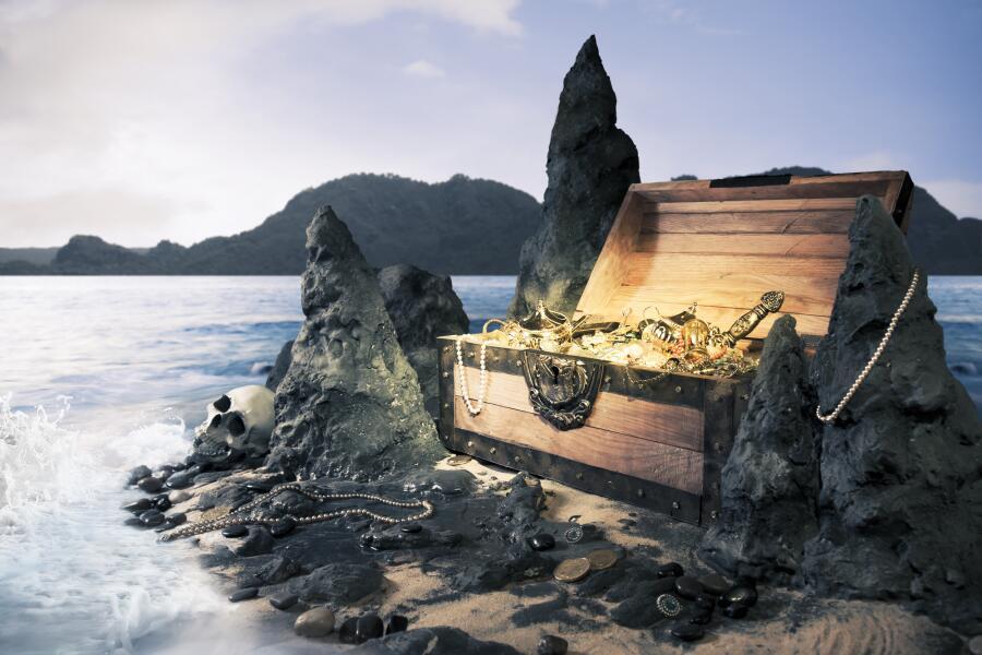 Где спрятали сокровища знаменитые морские пираты?