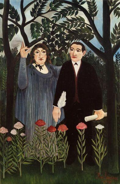 Анри Руссо, «Муза, вдохновляющая поэта», 1909 г.