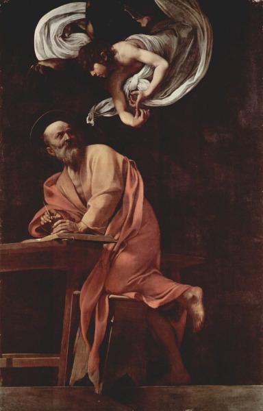 Микеланджело Меризи де Караваджо, «Святой Матфей и ангел», 1602 г.