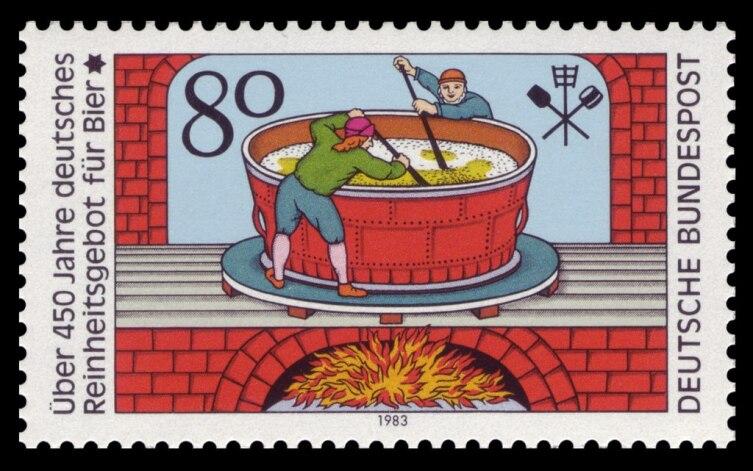 Немецкая марка в память о принятии «Закона о чистоте пива»