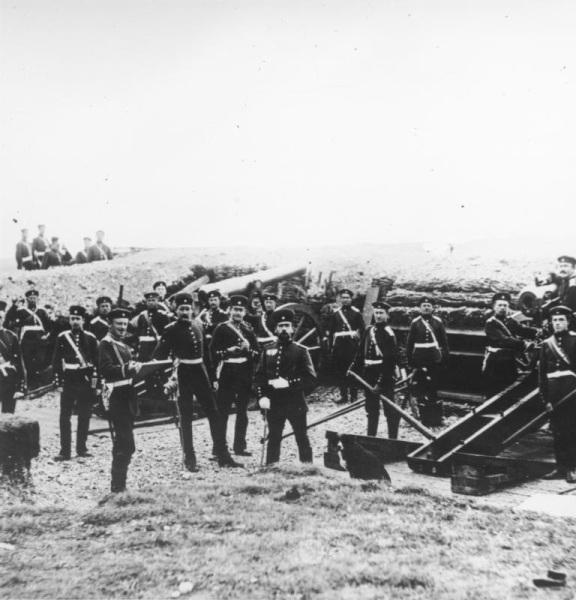 Прусская артиллерийская батарея у Парижа
