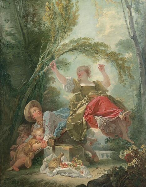 Жан Оноре Фрагонар, «Качели», 1752 г.