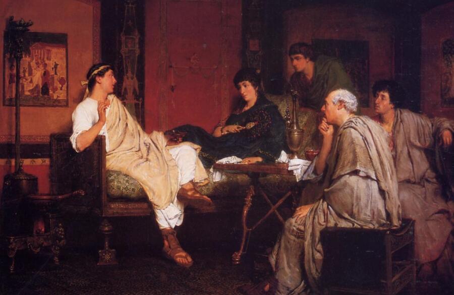 Лоуренс Альма-Тадема, «Тибулл у Делии», 1866 г.