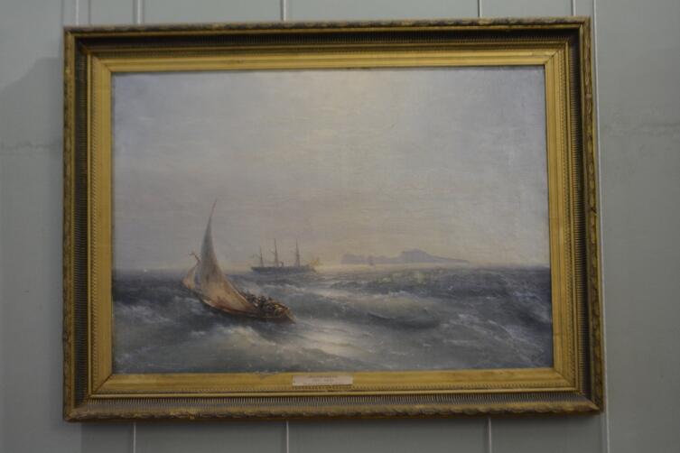 Картина Айвазовского в картинной галерее Острогожска