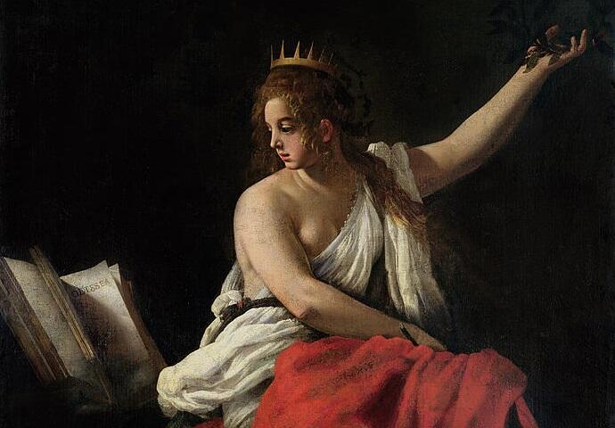 Джованни Бальоне (Баглионе), «Каллиопа, муза эпической поэзии» (фрагмент), 1620 г.