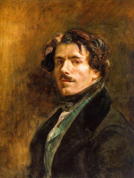 Эжен Делакруа, «Автопортрет», 1837 г.