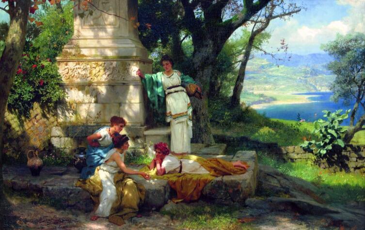 Г. И. Семирадский, «Игра в кости», 1899 г.