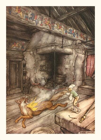 Антон Пик, «Путешествие Нильса с дикими гусями. Лис и Нильс», 1940 г.