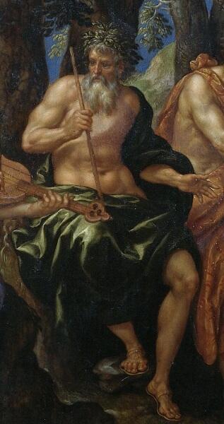 Хендрик де Клерк, «Состязание Аполлона и Пана»,  фрагмент «Тмол», 1621 г.