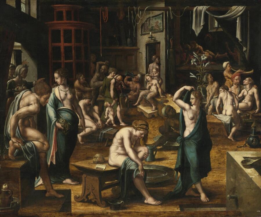 Неизвестный нидерландский мастер, «Баня», 1540-50 гг.