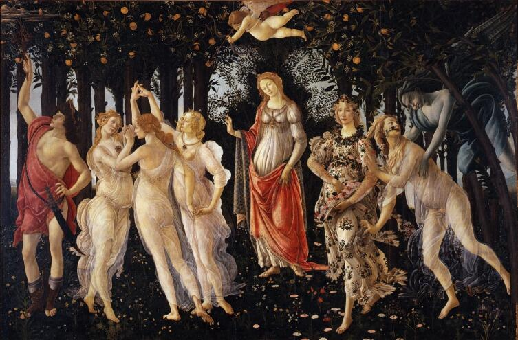 Сандро Боттичелли, «Весна (Примавера)», 1485 г.