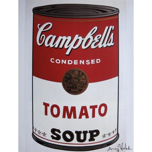 Энди Уорхол, «Банка с супом Кэмпбелл (томатный)», 1961 г.
