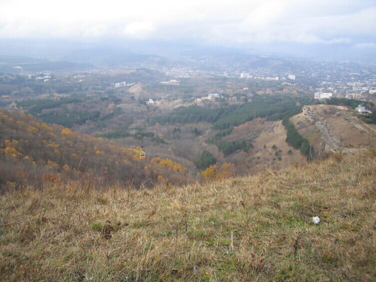 Кисловодск осенью, вид с горы Малое Седло
