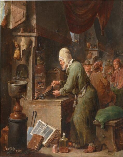 Давид Тенирс Младший, «Алхимик», 1640 г.