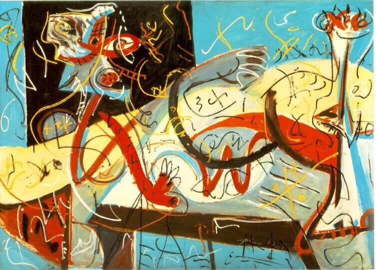 Джексон Поллок, «Стенографическая фигура», 1942 г.