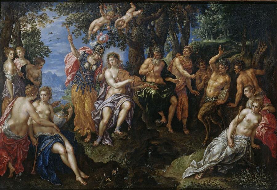 Хендрик де Клерк, «Состязание Аполлона и Пана», 1621 г.