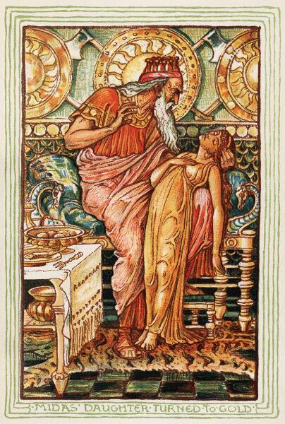 Мидас, превративший дочь в золото