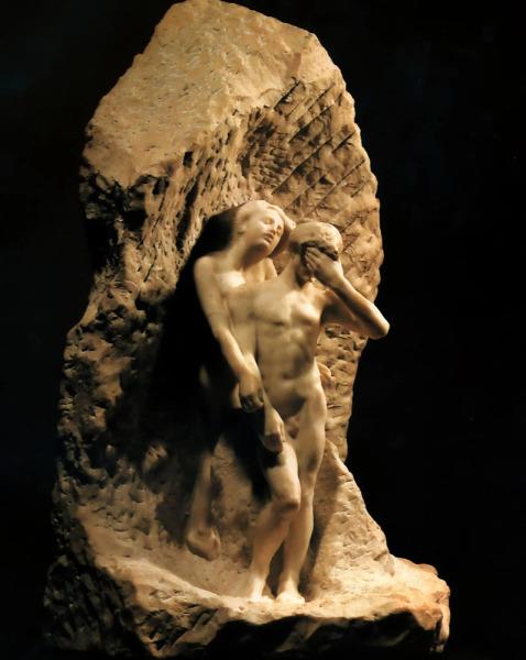 Огюст Роден, «Орфей и Эвридика», 1893 г.