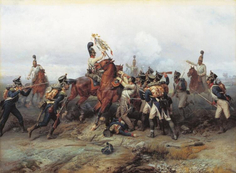 Б. П. Виллевальде, «Подвиг конного полка в сражении при Аустерлице в 1805 году», 1884 г.