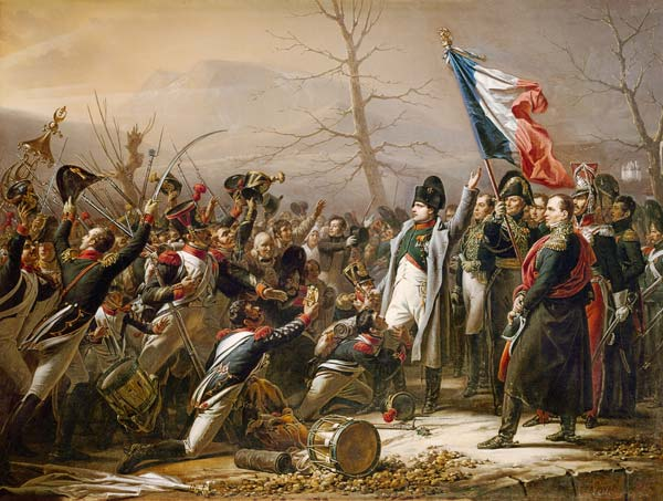 Карл Штейбен, «Возвращение Наполеона с острова Эльба», 1834 г.