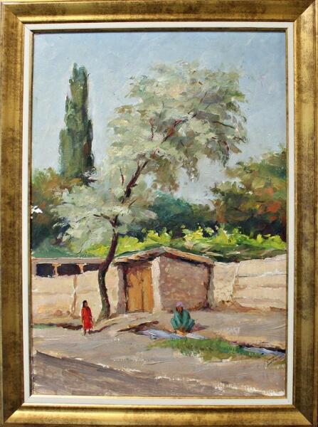 Л. Г. Панченко, «Джида у входа в узбекский дворик», 1976 г.