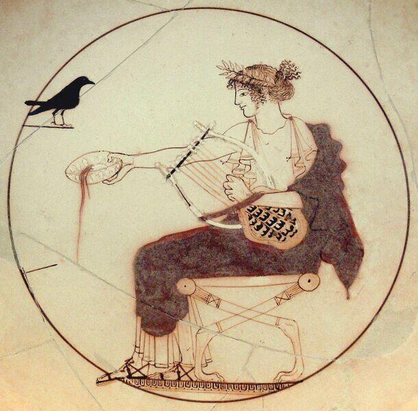 Аполлон с лирой, ок. 460 до н. э. Археологический музей в Дельфах
