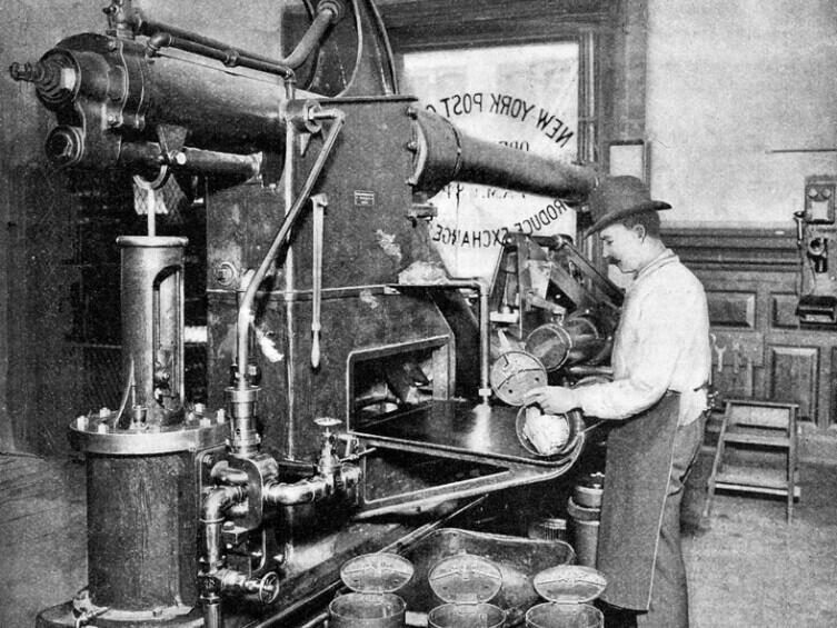 Пневмопочта в Филадельфии в 1893 г.