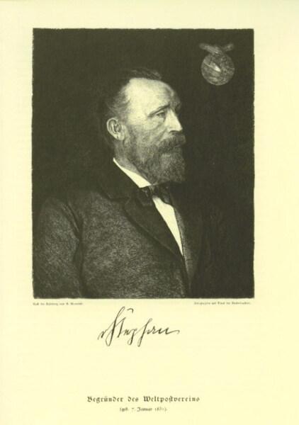 Генрих фон Стефан — новатор пневматической почты в Германии, 1876 г.