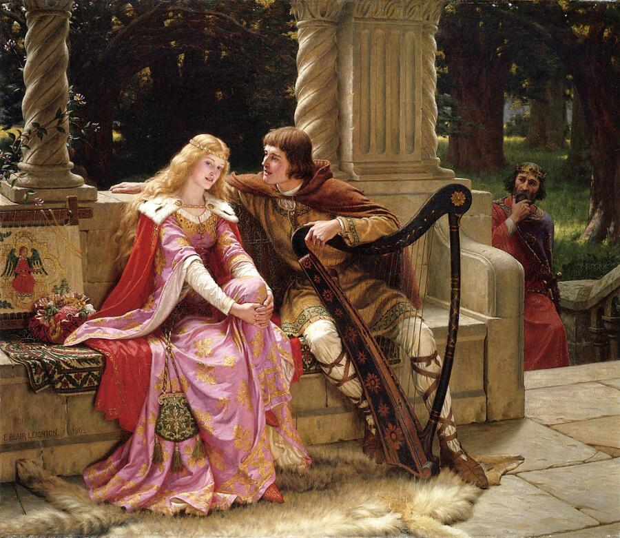 Эдмунд Блэр Лейтон, «Тристан и Изольда. Конец песни», 1902 г.