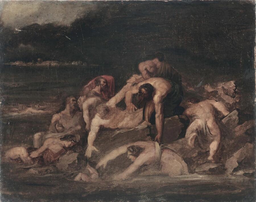 Теодор Жерико, «Мифологическая сцена (Всемирный потоп)», 1820-е гг.