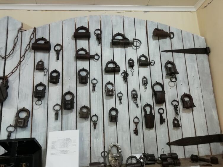 Экспонаты музея замка