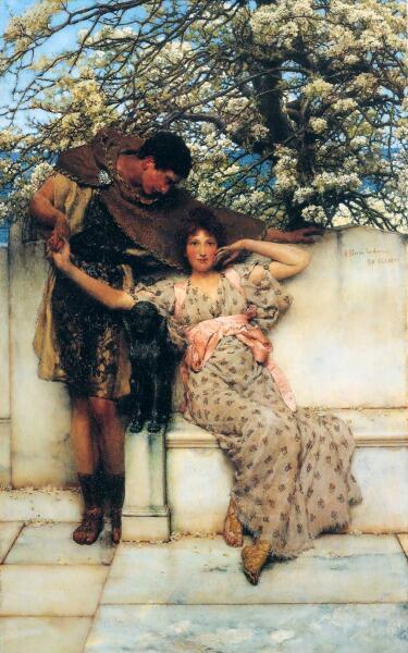 Лоуренс Альма-Тадема, «Обещание весны», 1890 г.