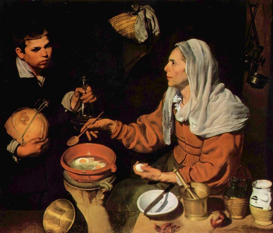 Диего Веласкес, «Старая кухарка», 1618 г.