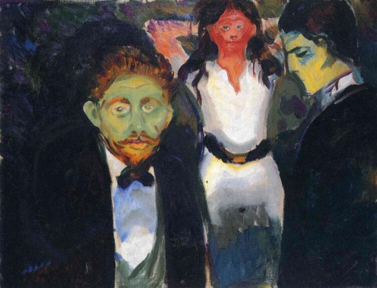 Эдвард Мунк, «Ревность», 1907 г.