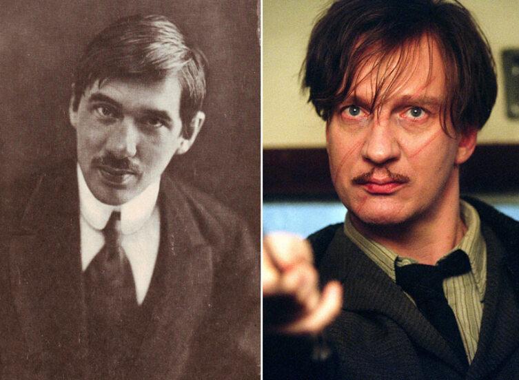 Корней Чуковский (слева) и Дэвид Тьюлис в роли Люпига (справа).