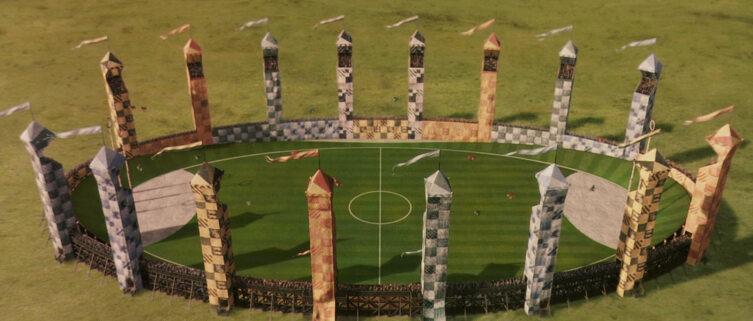 Поле для квиддича. Кадр из кинофраншизы «Гарри Поттер»