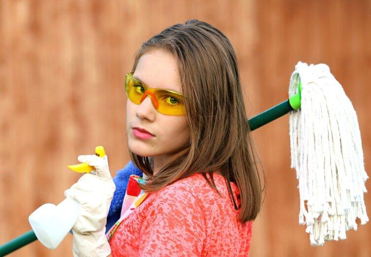 Делайте влажную уборку