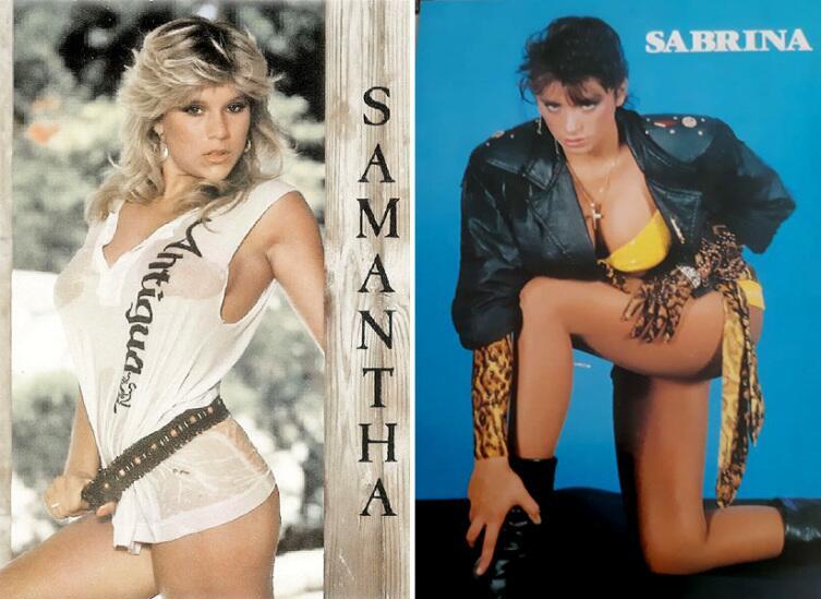 Саманта Фокс (р. 15.04.1966) и Сабрина Салерно (р. 15.03.1968)